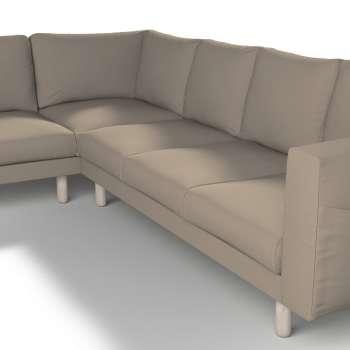 Pokrowiec na sofę narożną Norsborg 5-osobową w kolekcji Cotton Panama, tkanina: 702-28