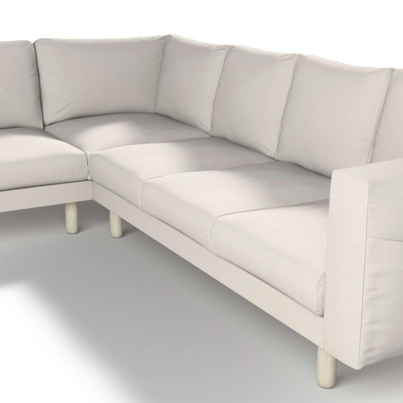 Pokrowiec na sofę narożną Norsborg 5-osobową w kolekcji Cotton Panama, tkanina: 702-31