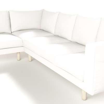 Pokrowiec na sofę narożną Norsborg 5-osobową w kolekcji Cotton Panama, tkanina: 702-34