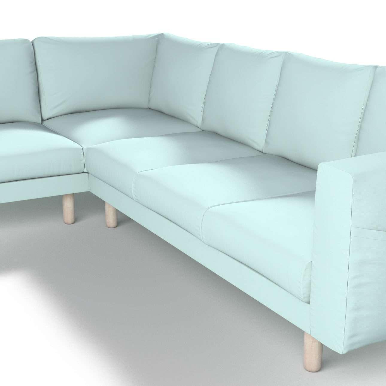 norsborg 5 sitzer ecksofabezug hellblau dekoria. Black Bedroom Furniture Sets. Home Design Ideas