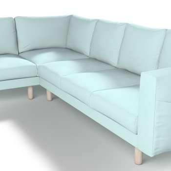Pokrowiec na sofę narożną Norsborg 5-osobową w kolekcji Cotton Panama, tkanina: 702-10