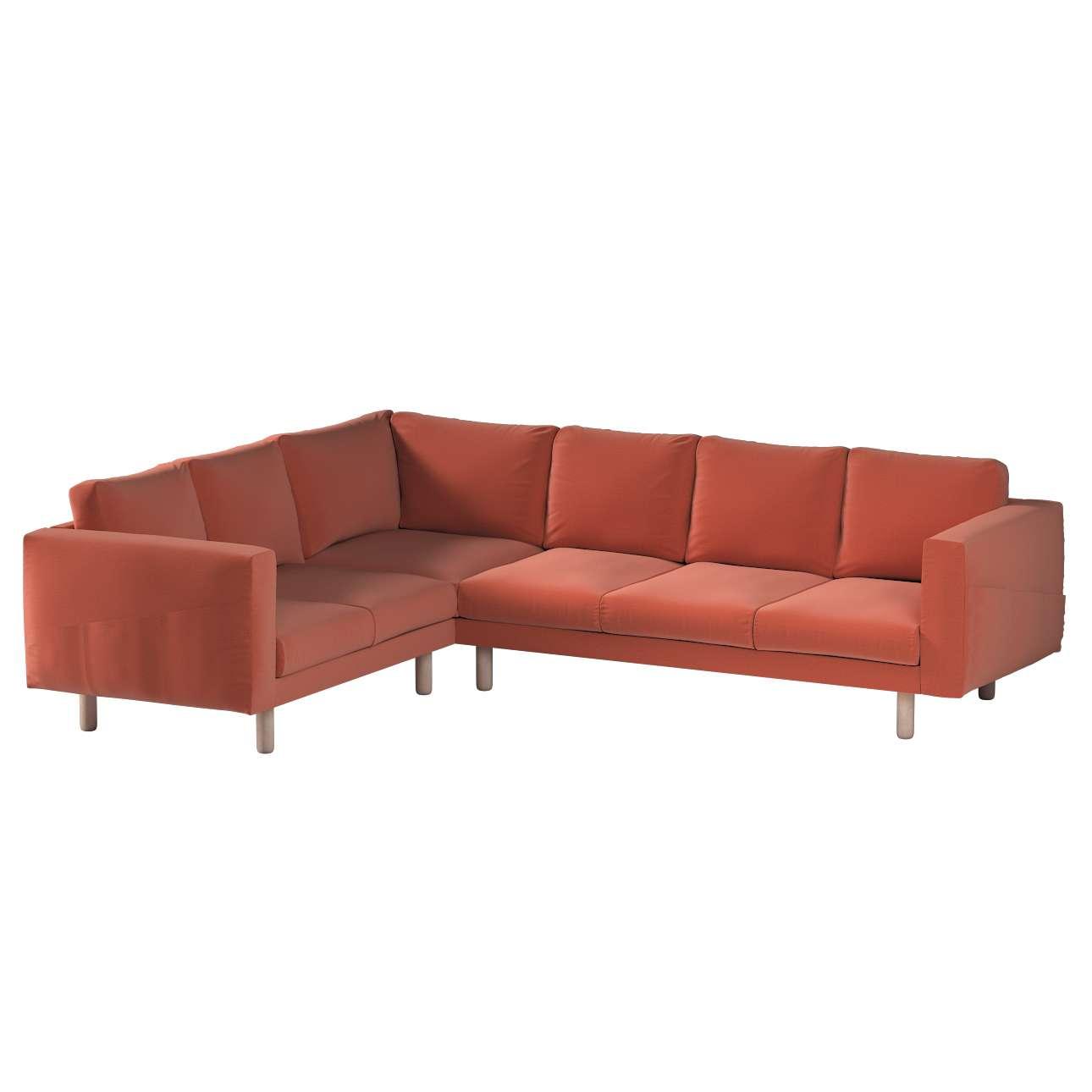 Pokrowiec na sofę narożną Norsborg 5-osobową w kolekcji Ingrid, tkanina: 705-37