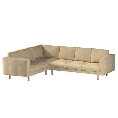 Pokrowiec na sofę narożną Norsborg 5-osobową w kolekcji Living, tkanina: 160-82