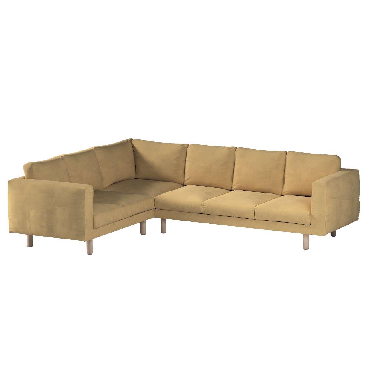 Pokrowiec na sofę narożną Norsborg 5-osobową w kolekcji Living, tkanina: 160-93