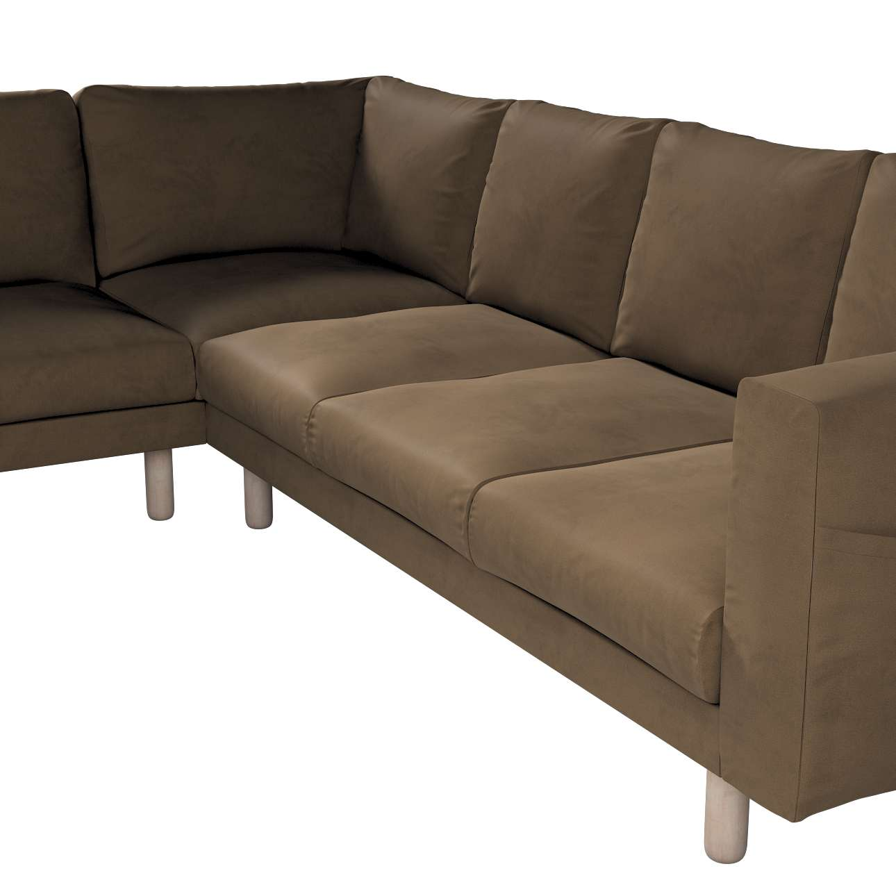 Pokrowiec na sofę narożną Norsborg 5-osobową w kolekcji Living, tkanina: 160-94