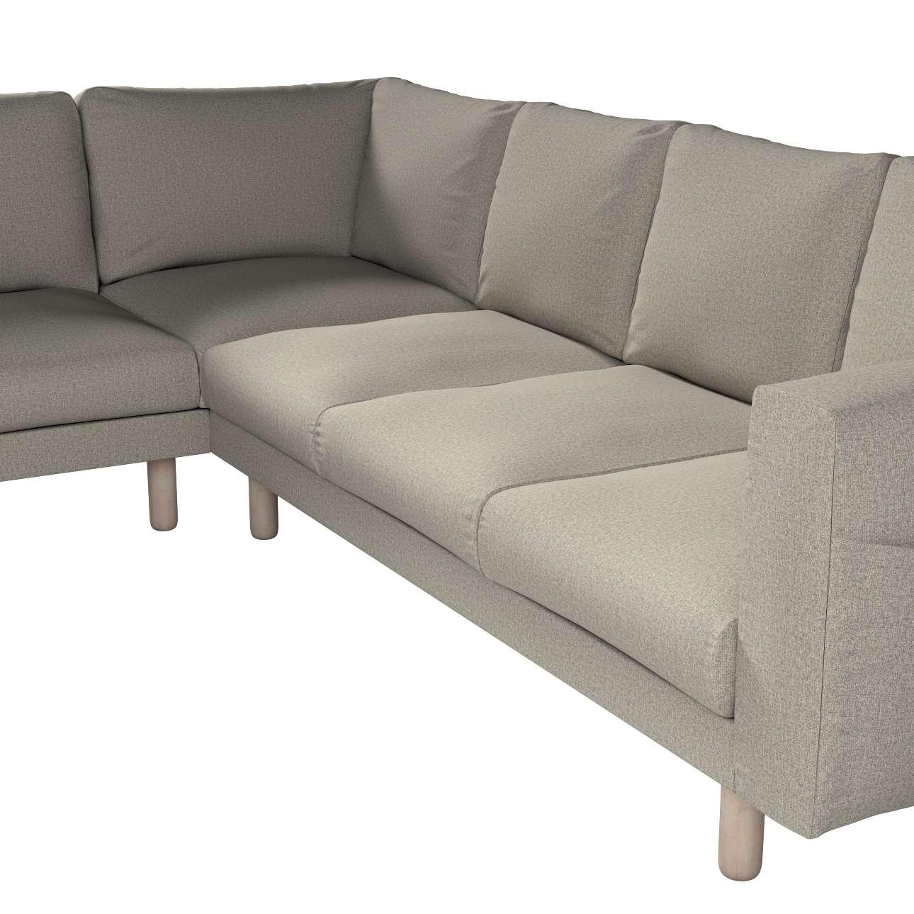 Pokrowiec na sofę narożną Norsborg 5-osobową w kolekcji Madrid, tkanina: 161-23