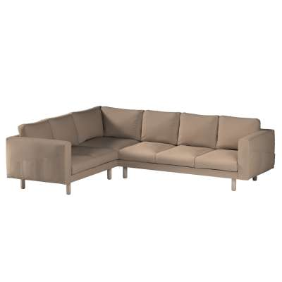 Pokrowiec na sofę narożną Norsborg 5-osobową w kolekcji Bergen, tkanina: 161-75