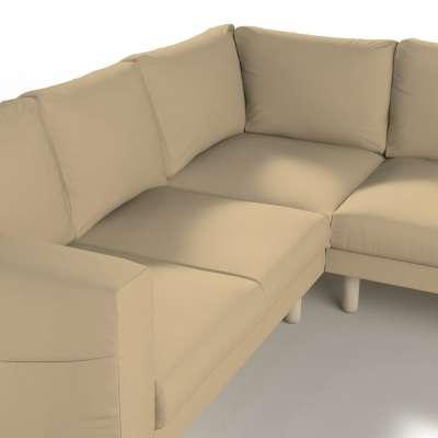 Pokrowiec na sofę narożną Norsborg 4-osobową w kolekcji Cotton Panama, tkanina: 702-01