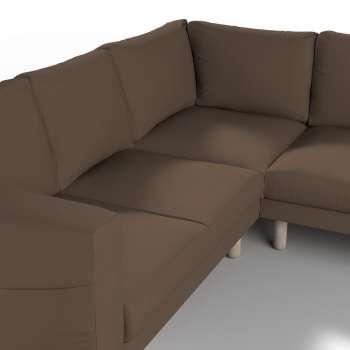 Pokrowiec na sofę narożną Norsborg 4-osobową w kolekcji Cotton Panama, tkanina: 702-02