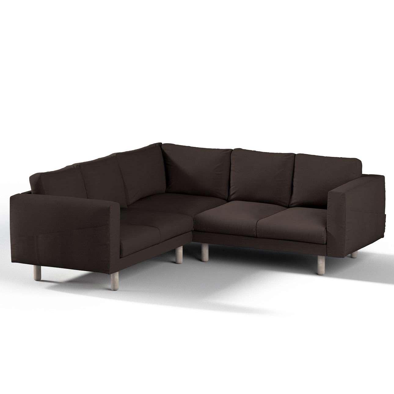 Pokrowiec na sofę narożną Norsborg 4-osobową w kolekcji Cotton Panama, tkanina: 702-03