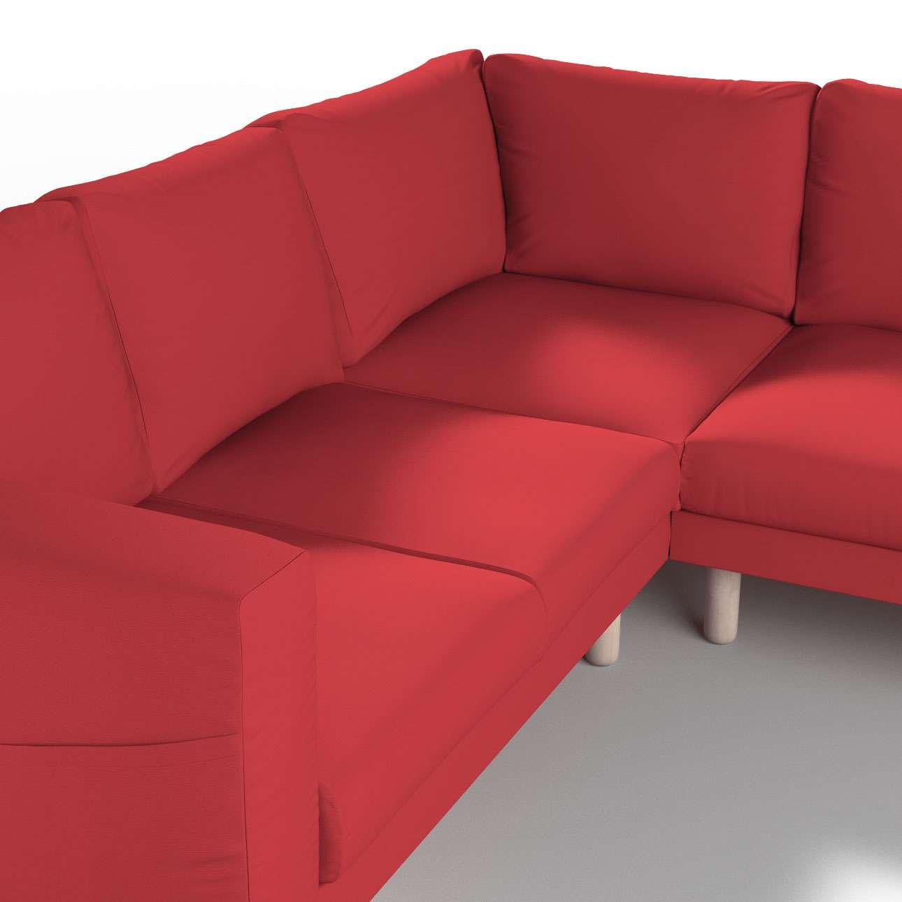 Pokrowiec na sofę narożną Norsborg 4-osobową w kolekcji Cotton Panama, tkanina: 702-04