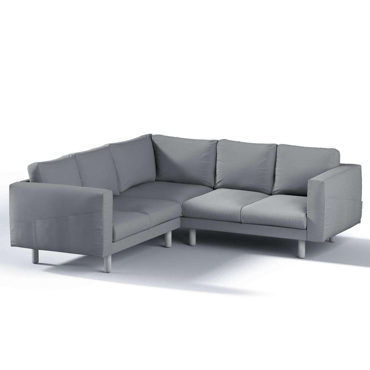 Pokrowiec na sofę narożną Norsborg 4-osobową w kolekcji Cotton Panama, tkanina: 702-07