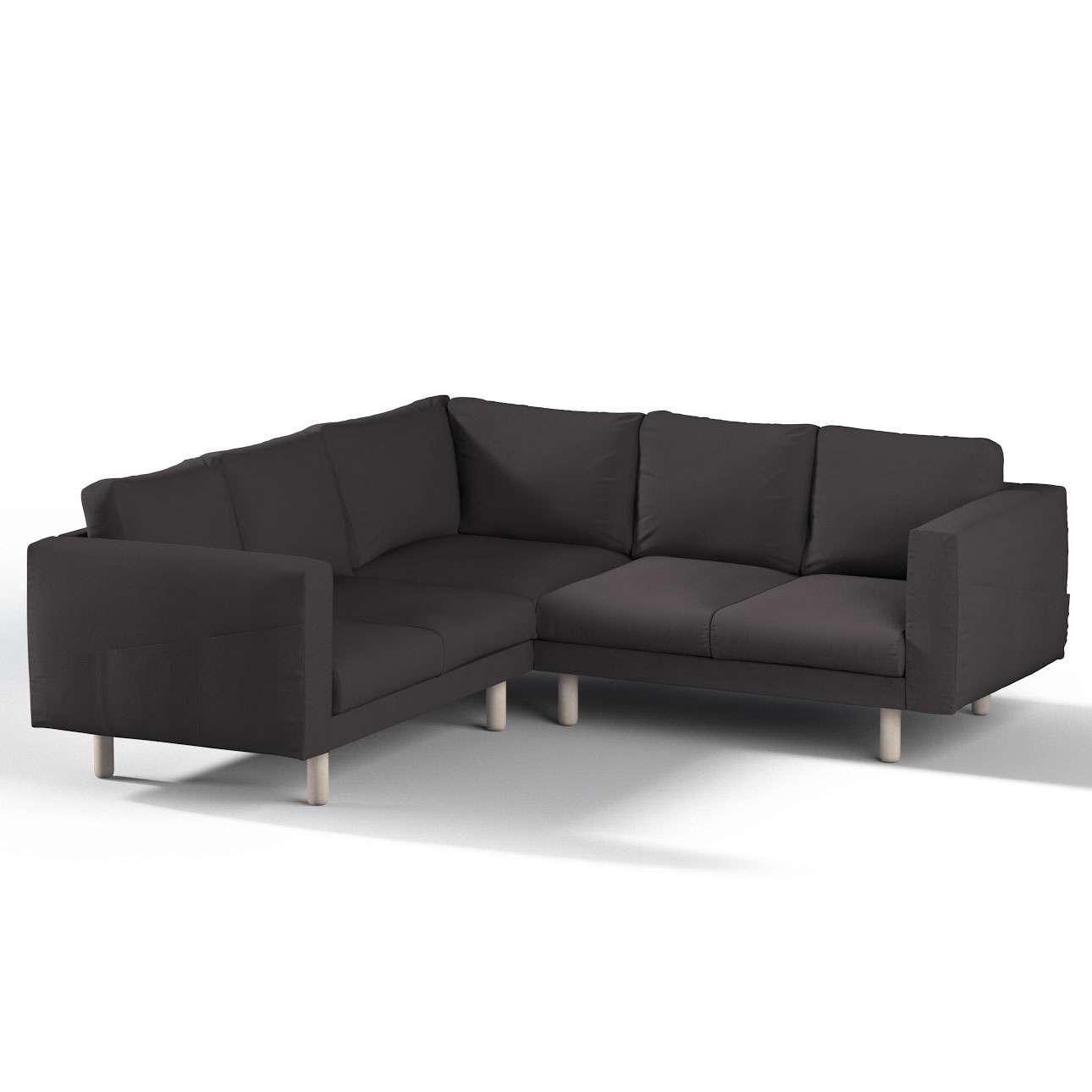 Pokrowiec na sofę narożną Norsborg 4-osobową w kolekcji Cotton Panama, tkanina: 702-09