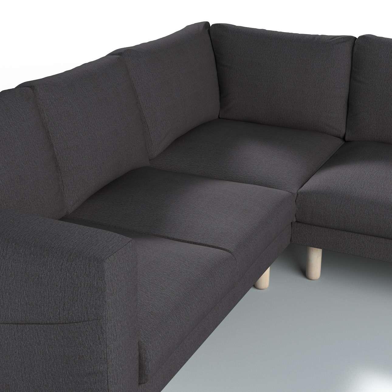 Pokrowiec na sofę narożną Norsborg 4-osobową w kolekcji Chenille, tkanina: 702-20