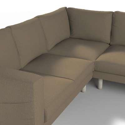 Pokrowiec na sofę narożną Norsborg 4-osobową w kolekcji Chenille, tkanina: 702-21
