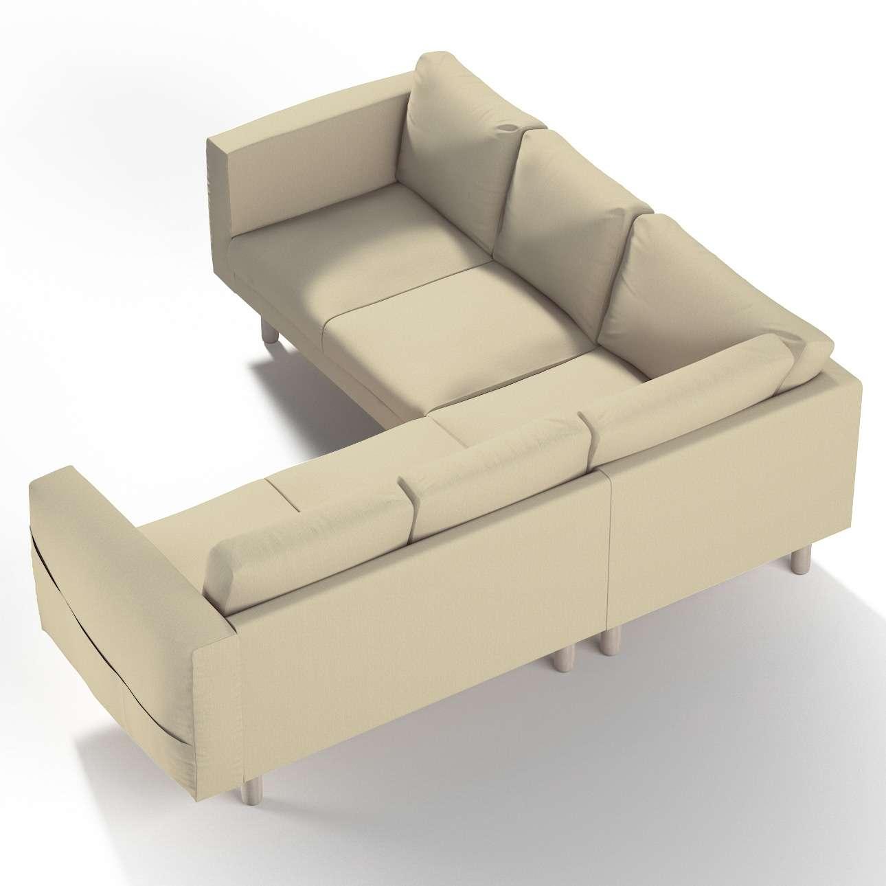 Pokrowiec na sofę narożną Norsborg 4-osobową w kolekcji Chenille, tkanina: 702-22
