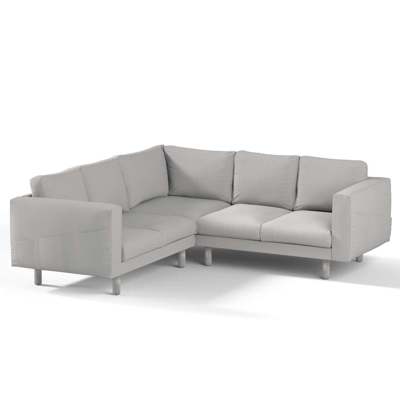 Pokrowiec na sofę narożną Norsborg 4-osobową w kolekcji Chenille, tkanina: 702-23