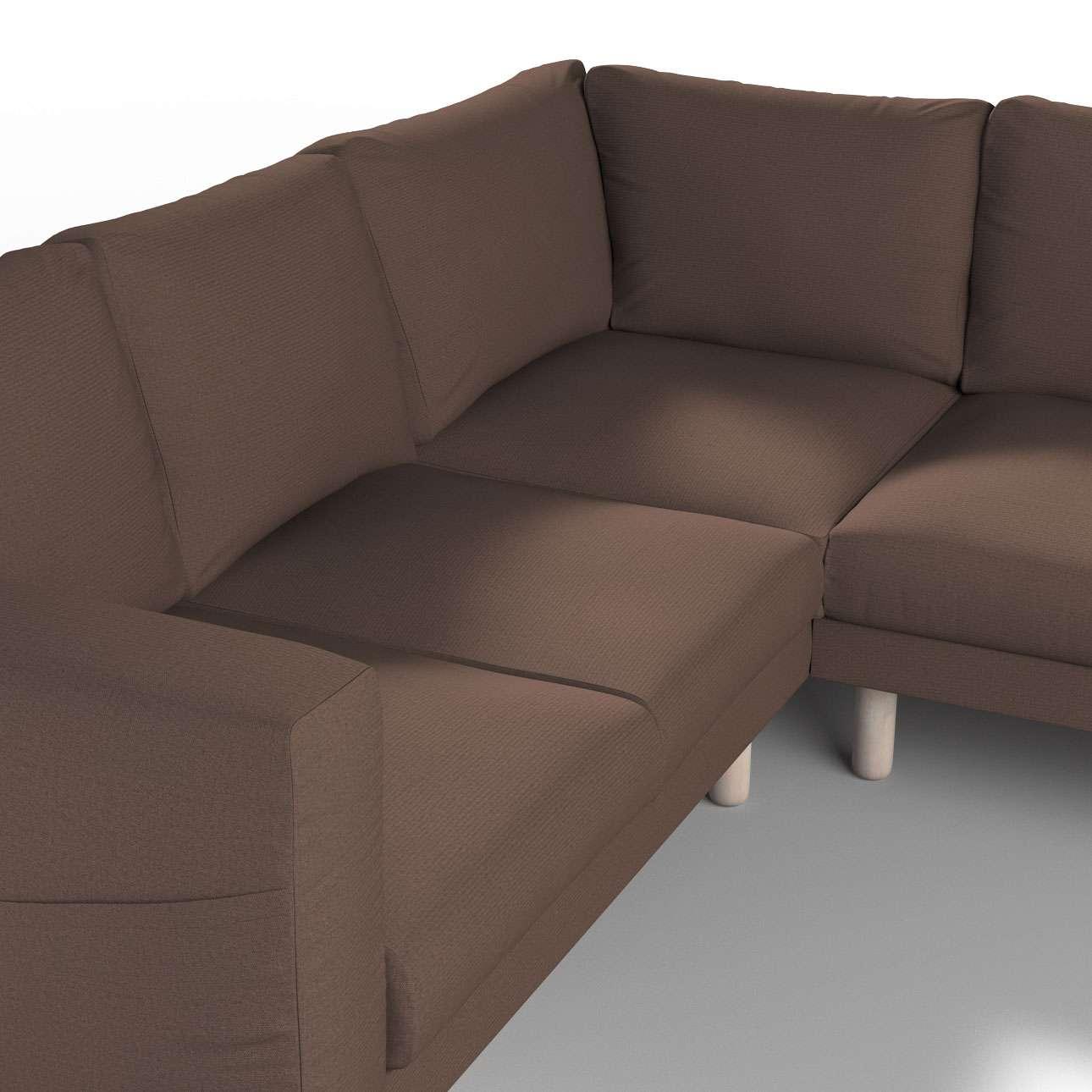 Pokrowiec na sofę narożną Norsborg 4-osobową w kolekcji Etna, tkanina: 705-08