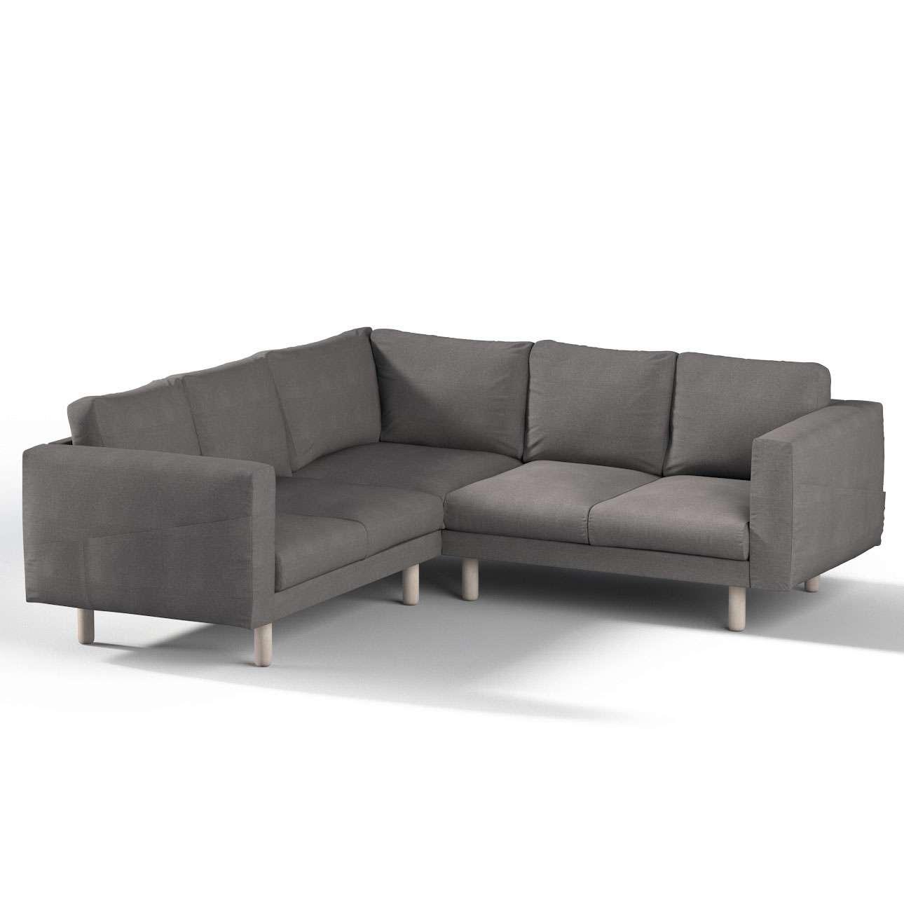 Pokrowiec na sofę narożną Norsborg 4-osobową w kolekcji Etna, tkanina: 705-35