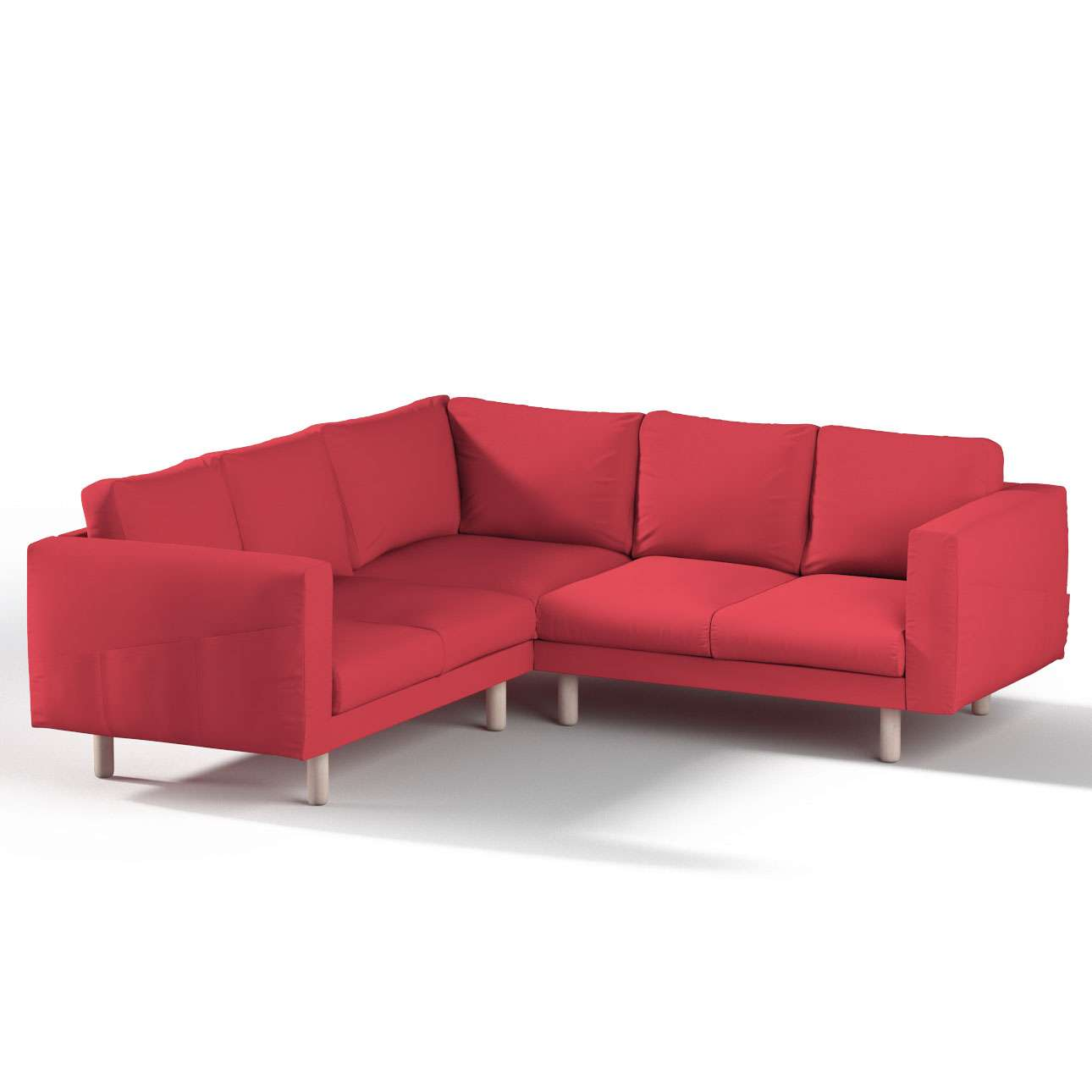 Pokrowiec na sofę narożną Norsborg 4-osobową w kolekcji Etna, tkanina: 705-60