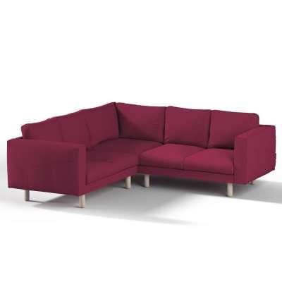 Pokrowiec na sofę narożną Norsborg 4-osobową w kolekcji Cotton Panama, tkanina: 702-32