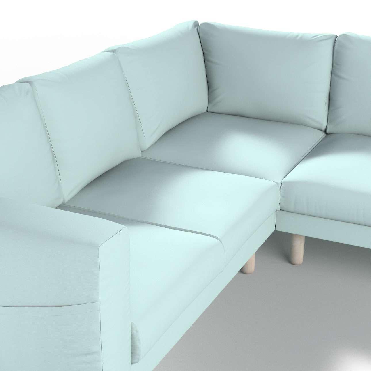 Pokrowiec na sofę narożną Norsborg 4-osobową w kolekcji Cotton Panama, tkanina: 702-10