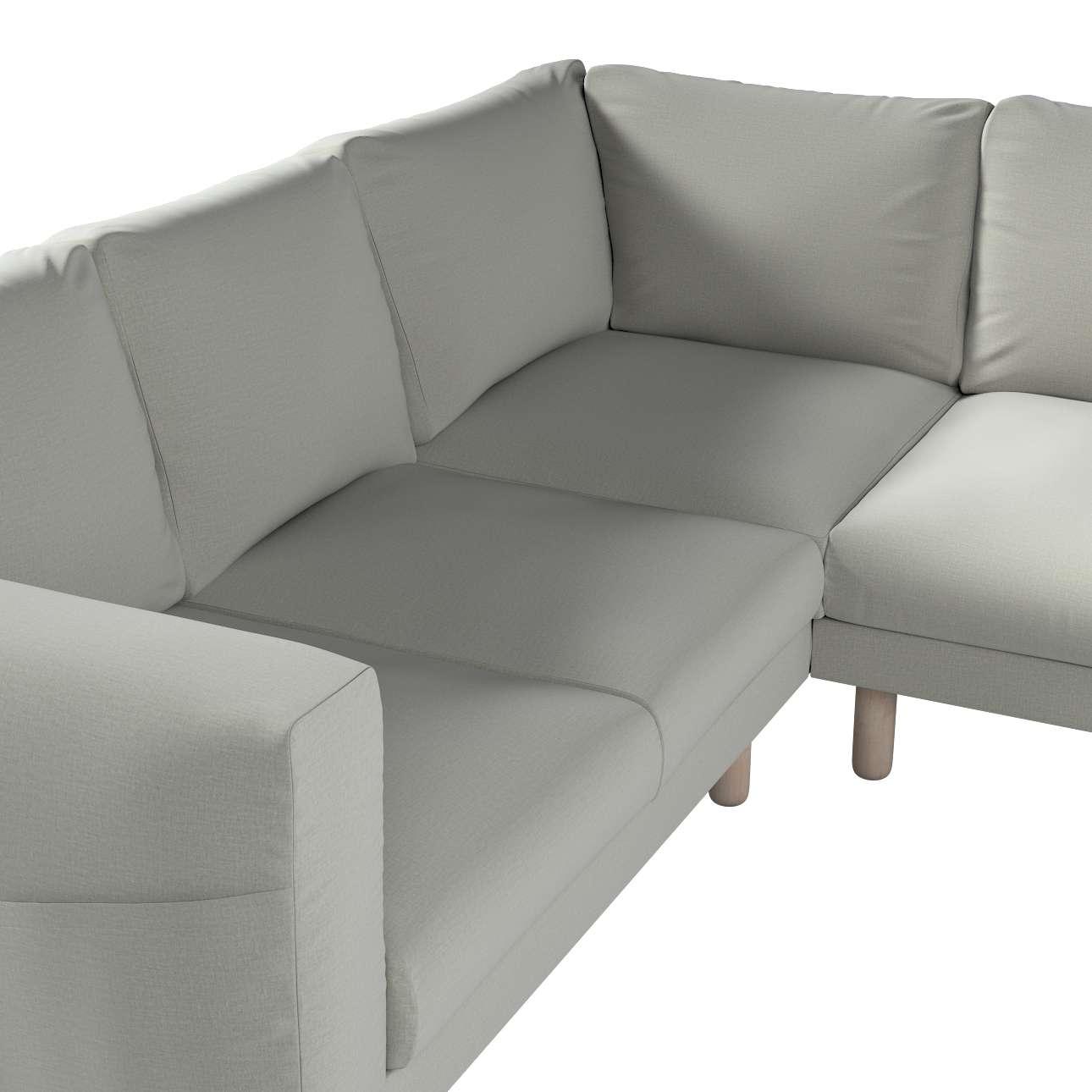 Pokrowiec na sofę narożną Norsborg 4-osobową w kolekcji Ingrid, tkanina: 705-41