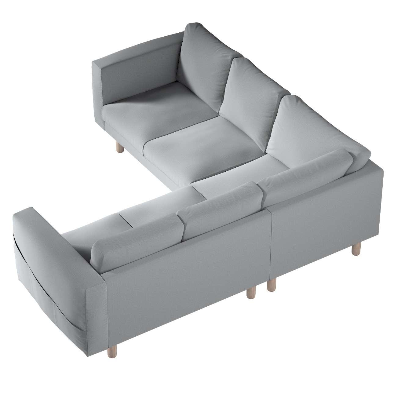 Pokrowiec na sofę narożną Norsborg 4-osobową w kolekcji Ingrid, tkanina: 705-42