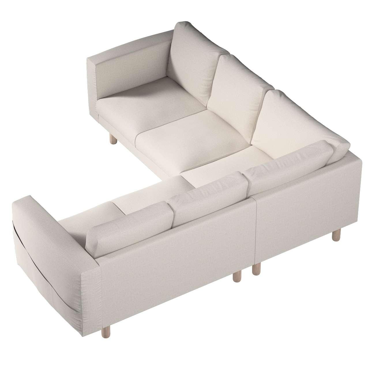 Pokrowiec na sofę narożną Norsborg 4-osobową w kolekcji Living, tkanina: 161-00