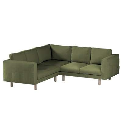 Pokrowiec na sofę narożną Norsborg 4-osobową w kolekcji Madrid, tkanina: 161-22