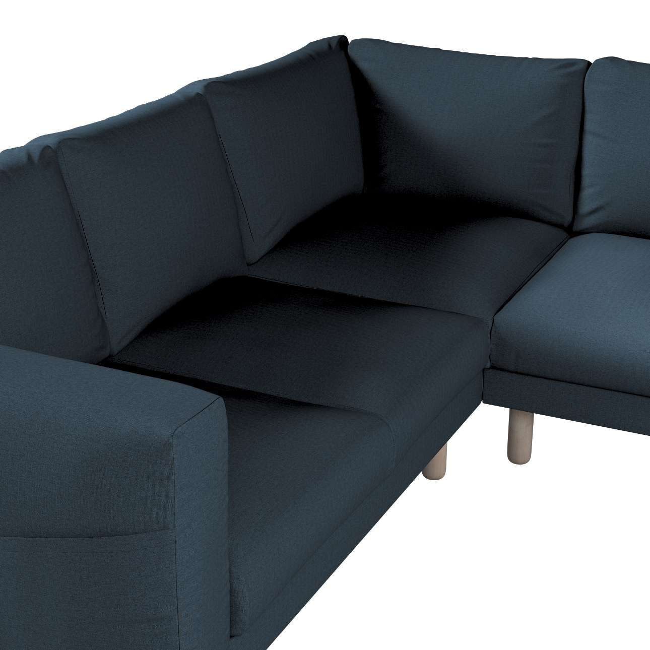 Pokrowiec na sofę narożną Norsborg 4-osobową w kolekcji Etna, tkanina: 705-30