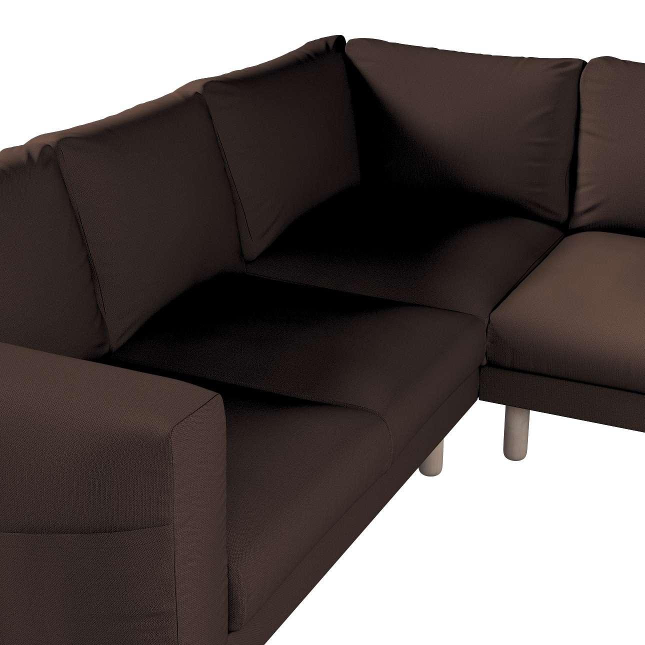 Pokrowiec na sofę narożną Norsborg 4-osobową w kolekcji Bergen, tkanina: 161-73