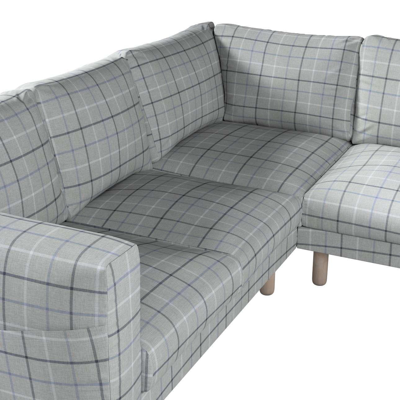 Pokrowiec na sofę narożną Norsborg 4-osobową w kolekcji Edinburgh, tkanina: 703-18