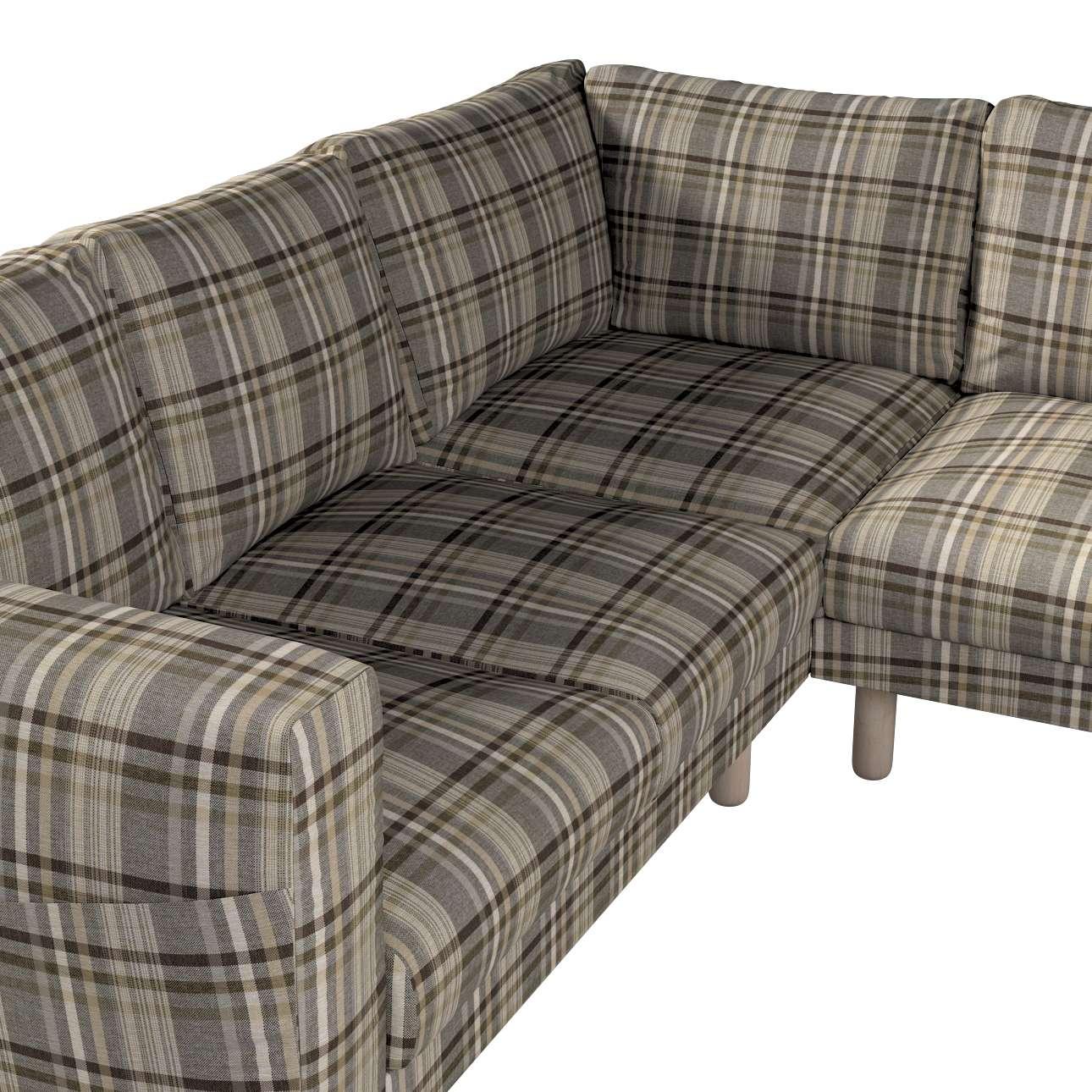Pokrowiec na sofę narożną Norsborg 4-osobową w kolekcji Edinburgh, tkanina: 703-17