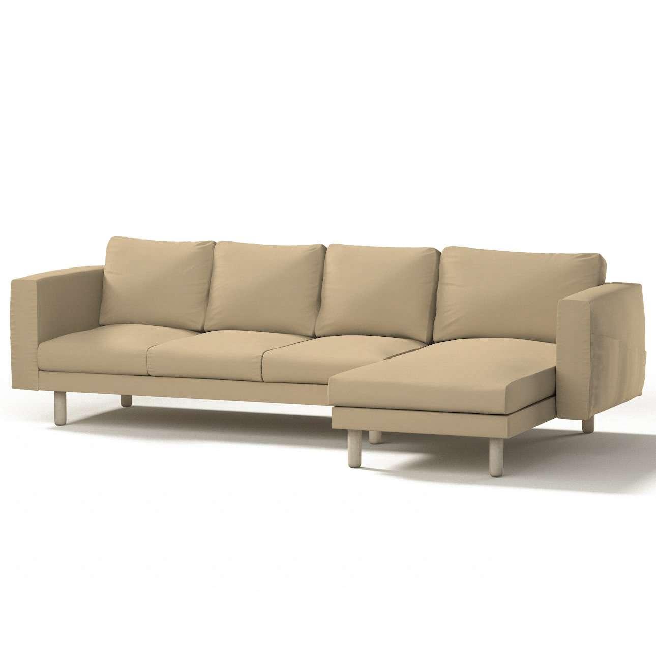 Norsborg Bezug für 4-Sitzer Sofa mit Recamiere, caffe latte, Norsborg Bezug für 4-Sitzer Sofa mit Recamiere, Cotton Panama | Wohnzimmer > Sofas & Couches > Recamieren | Dekoria