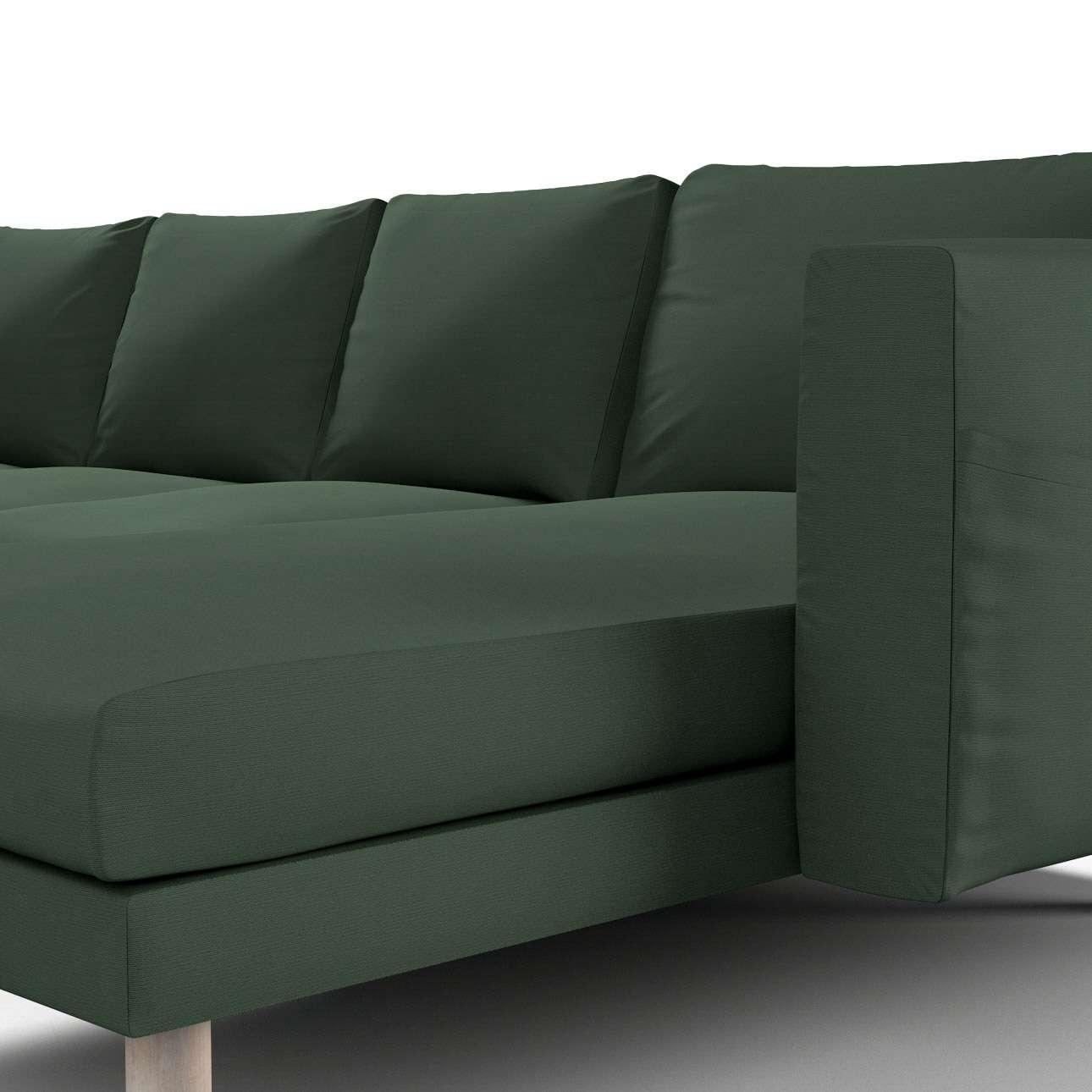 Pokrowiec na sofę Norsborg 4-osobową z szezlongiem w kolekcji Cotton Panama, tkanina: 702-06
