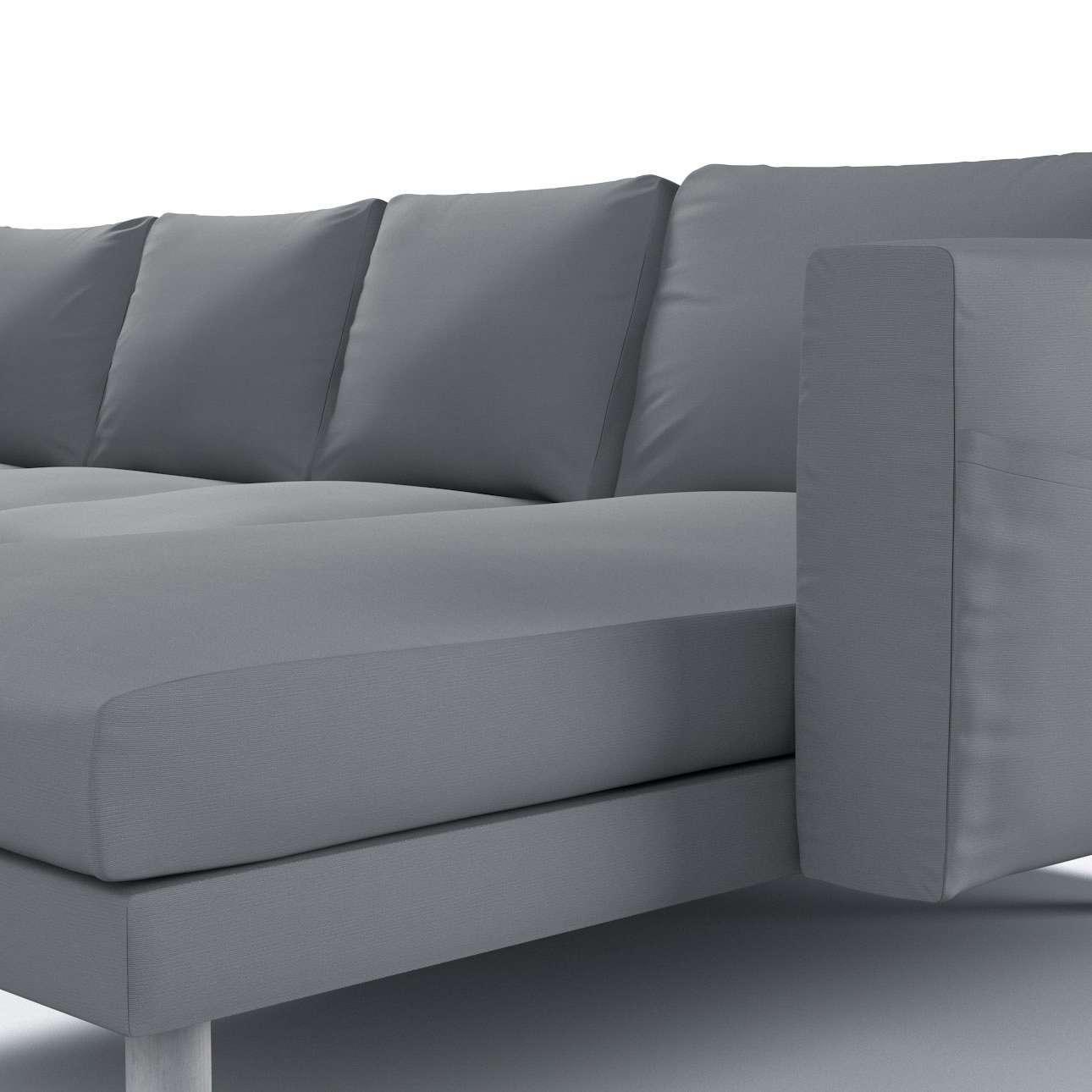 Pokrowiec na sofę Norsborg 4-osobową z szezlongiem w kolekcji Cotton Panama, tkanina: 702-07