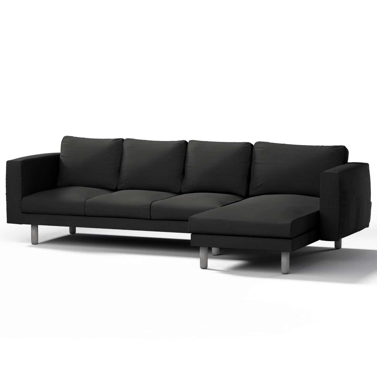 Pokrowiec na sofę Norsborg 4-osobową z szezlongiem w kolekcji Cotton Panama, tkanina: 702-08