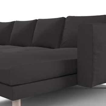 Pokrowiec na sofę Norsborg 4-osobową z szezlongiem w kolekcji Cotton Panama, tkanina: 702-09