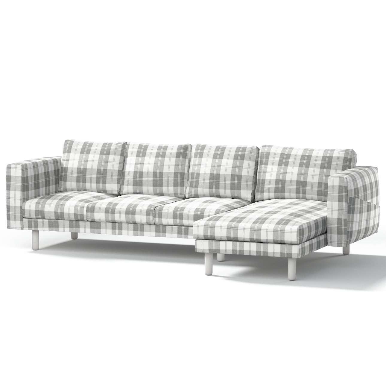 norsborg bezug f r 4 sitzer sofa mit recamiere wei grau. Black Bedroom Furniture Sets. Home Design Ideas