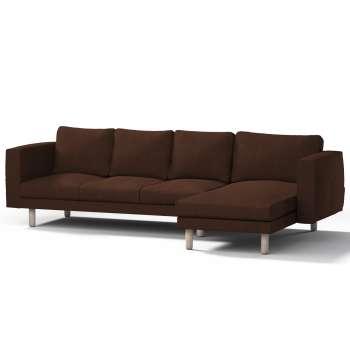 Pokrowiec na sofę Norsborg 4-osobową z szezlongiem w kolekcji Chenille, tkanina: 702-18