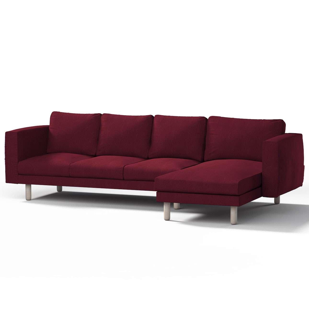 Pokrowiec na sofę Norsborg 4-osobową z szezlongiem w kolekcji Chenille, tkanina: 702-19