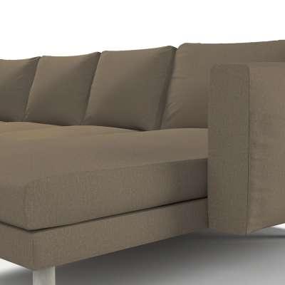 Pokrowiec na sofę Norsborg 4-osobową z szezlongiem w kolekcji Chenille, tkanina: 702-21