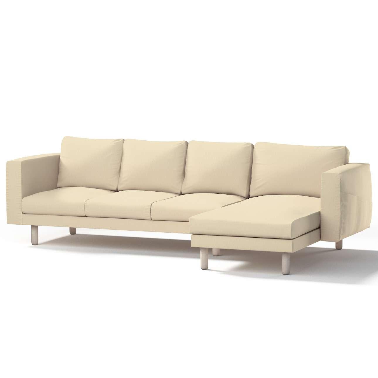 Norsborg bezug f r 4 sitzer sofa mit recamiere vanille for Sofa 4 sitzer