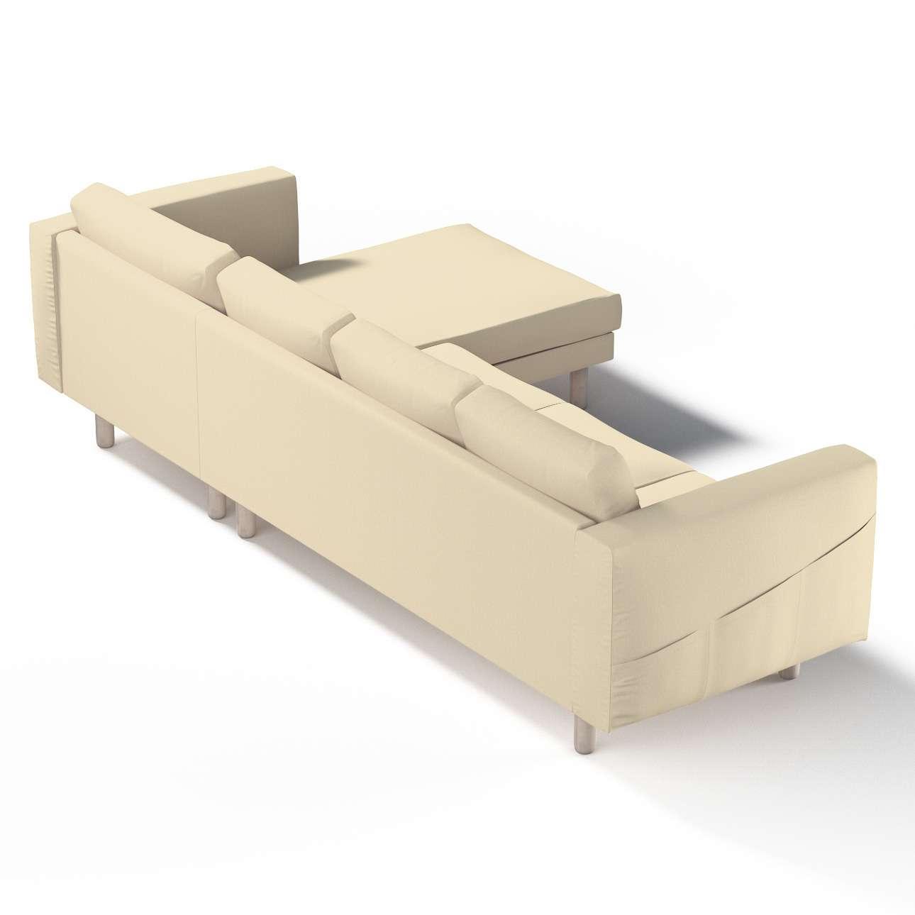 norsborg bezug f r 4 sitzer sofa mit recamiere vanille dekoria. Black Bedroom Furniture Sets. Home Design Ideas
