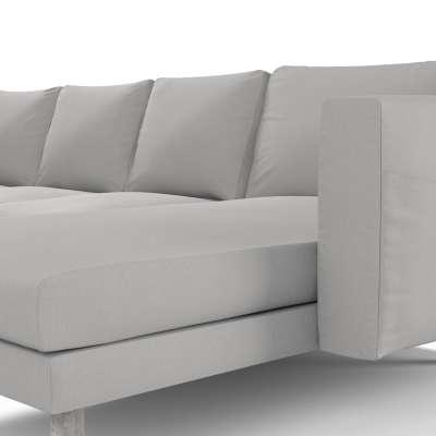 Pokrowiec na sofę Norsborg 4-osobową z szezlongiem w kolekcji Chenille, tkanina: 702-23