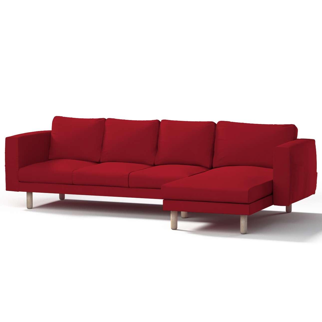 Pokrowiec na sofę Norsborg 4-osobową z szezlongiem w kolekcji Chenille, tkanina: 702-24