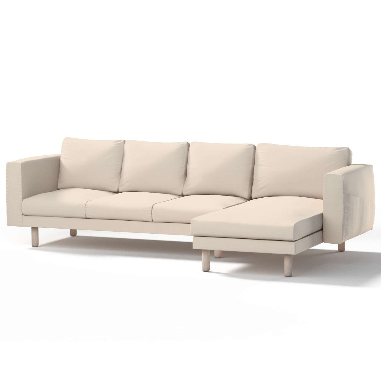 norsborg bezug f r 4 sitzer sofa mit recamiere naturwei. Black Bedroom Furniture Sets. Home Design Ideas