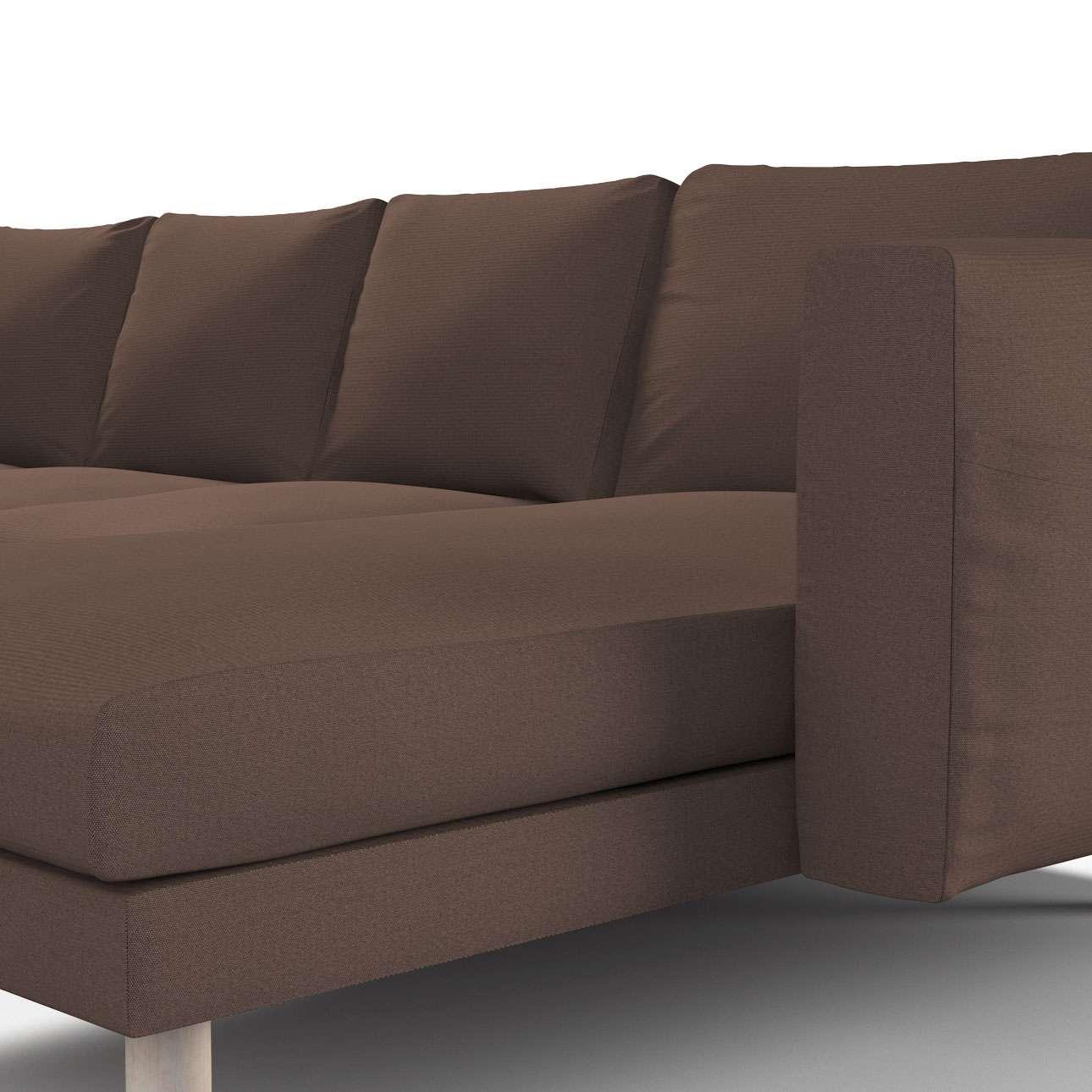 norsborg bezug f r 4 sitzer sofa mit recamiere braun. Black Bedroom Furniture Sets. Home Design Ideas