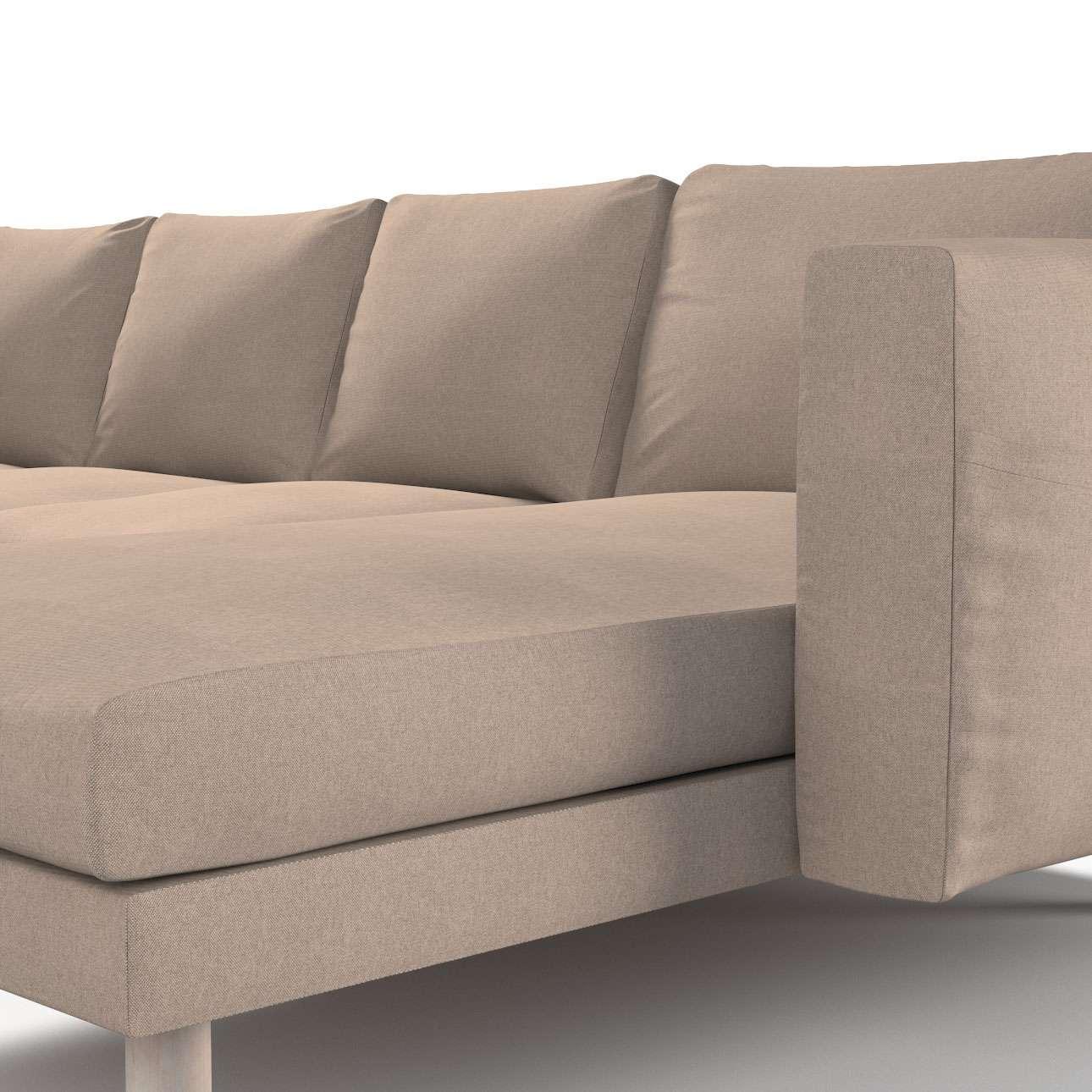 Pokrowiec na sofę Norsborg 4-osobową z szezlongiem w kolekcji Etna, tkanina: 705-09